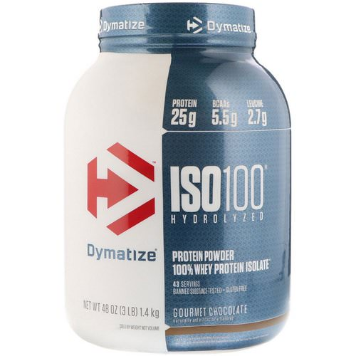Dymatize Nutrition, ISO 100, Hydrolyzed, 100% Whey Protein Isolate, Gourmet Chocolate, 3 lbs (1.4 kg) فوائد