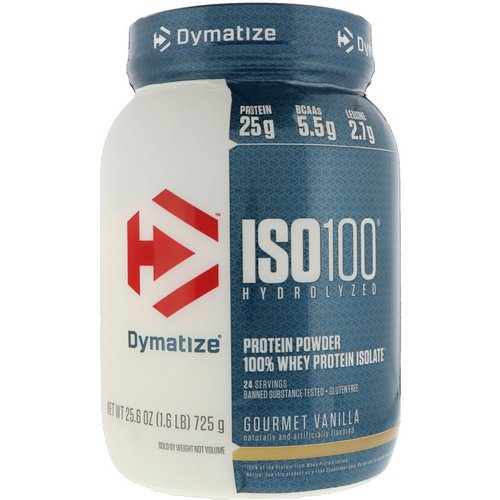 Dymatize Nutrition, ISO 100 Hydrolyzed, 100% Whey Protein Isolate, Gourmet Vanilla, 1.6 lbs (725 g) فوائد