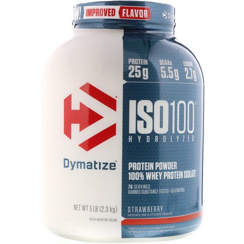 Dymatize Nutrition, ISO100 Hydrolyzed, 100% Whey Protein Isolate, Strawberry, 5 lbs (2.3 kg) فوائد