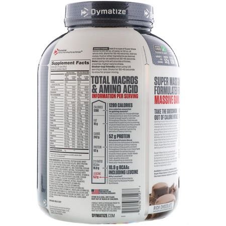 Dymatize Nutrition, Super Mass Gainer, Rich Chocolate, 6 lbs (2.7 kg):زيادة ال,زن, البر,تين