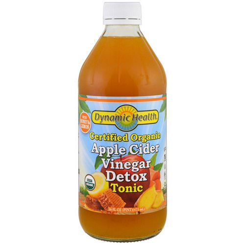 Dynamic Health Laboratories, Certified Organic Apple Cider Vinegar Detox Tonic, 16 fl oz (473 ml) فوائد