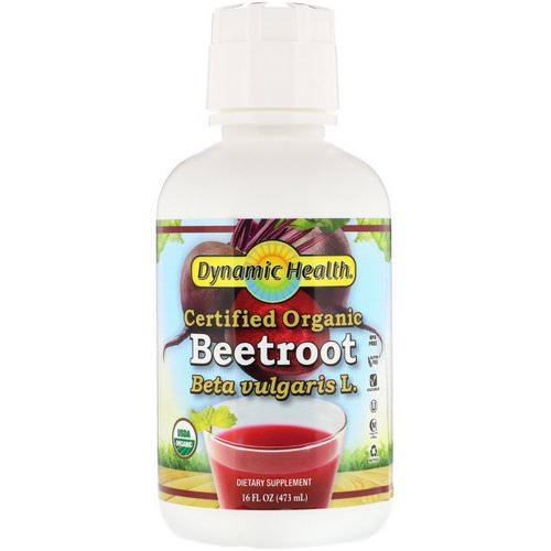 Dynamic Health Laboratories, Certified Organic Beetroot, 16 fl oz (473 ml) فوائد