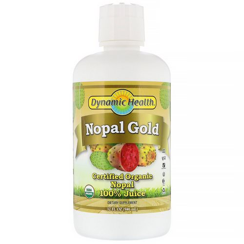 Dynamic Health Laboratories, Certified Organic Nopal Gold, 100% Juice, 32 fl oz (946 ml) فوائد