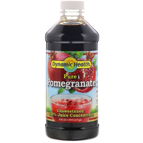 Dynamic Health Laboratories, Pure Pomegranate, 100% Juice Concentrate, Unsweetened, 16 fl oz (473 ml) فوائد