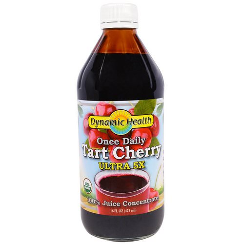 Dynamic Health Laboratories, Once Daily Tart Cherry, Ultra 5X, 100% Juice Concentrate, 16 fl oz (473 ml) فوائد