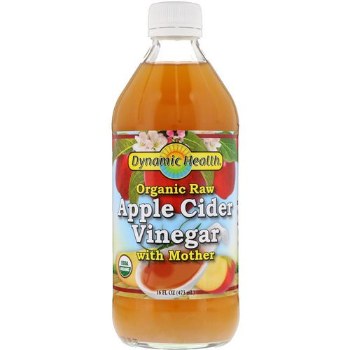 Dynamic Health Laboratories, Organic Raw Apple Cider Vinegar with Mother, 16 fl oz (473 ml) فوائد