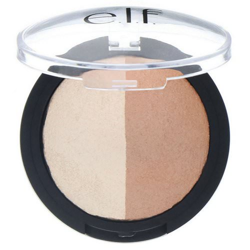 E.L.F, Baked Highlighter & Bronzer, Bronzed Glow, 0.183 oz (5.2 g) فوائد