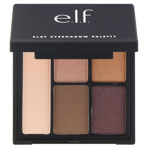 E.L.F, Clay Eyeshadow Palette, Saturday Sunsets, 0.26 oz (7.5 g ) فوائد
