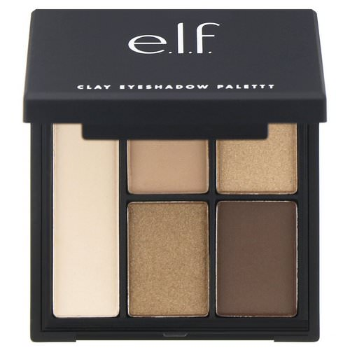 E.L.F, Clay Eyeshadow Palette, Necessary Nudes, 0.26 oz (7.5 g) فوائد