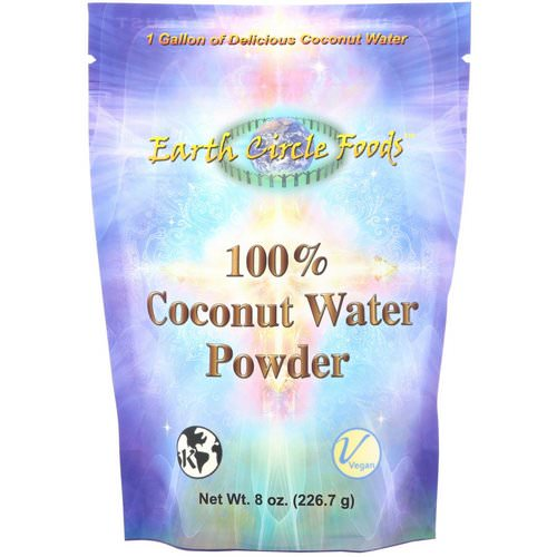 Earth Circle Organics, 100% Coconut Water Powder, 8 oz (226.7 g) فوائد