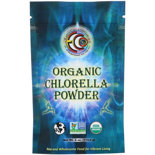 Earth Circle Organics, Organic Chlorella Powder, 4 oz (113.4 g) فوائد