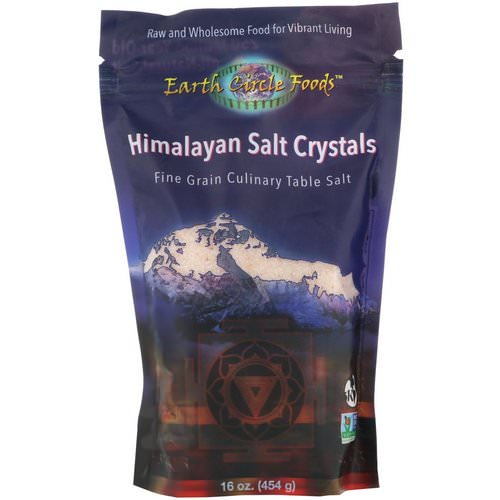 Earth Circle Organics, Himalayan Salt Crystals, Fine Grain, 16 oz (454 g) فوائد