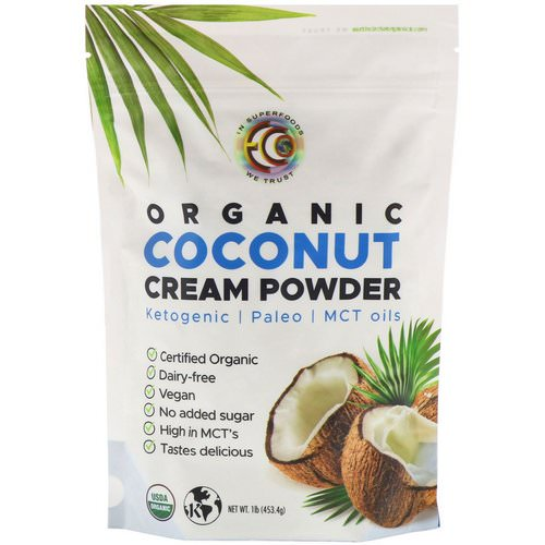 Earth Circle Organics, Organic Coconut Cream Powder, 1 lb (453.4 g) فوائد