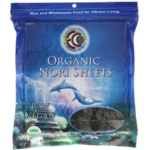 Earth Circle Organics, Organic Nori Sheets, 50 Sheets, 4.4 oz (125 g) فوائد