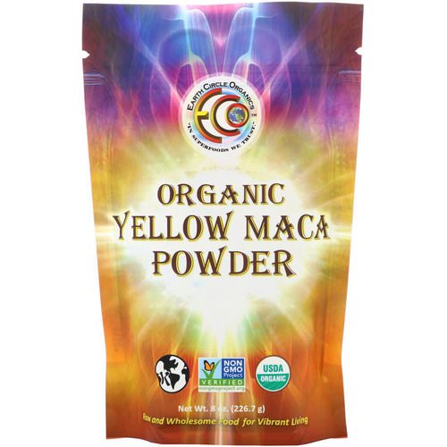 Earth Circle Organics, Organic Yellow Maca Powder, 8 oz (226.7 g) فوائد