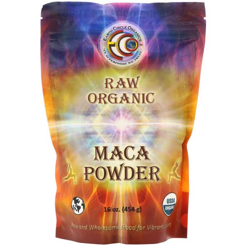 Earth Circle Organics, Raw Organic Maca Powder, 16 oz (454 g) فوائد