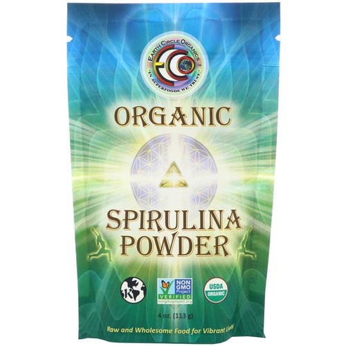 Earth Circle Organics, Organic Spirulina Powder, 4 oz (113 g) فوائد