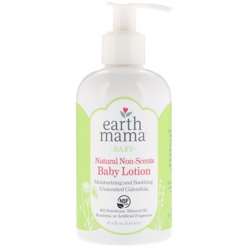 Earth Mama, Baby, Natural Non-Scents, Baby Lotion, Unscented Calendula, 8 fl oz (240 ml) فوائد