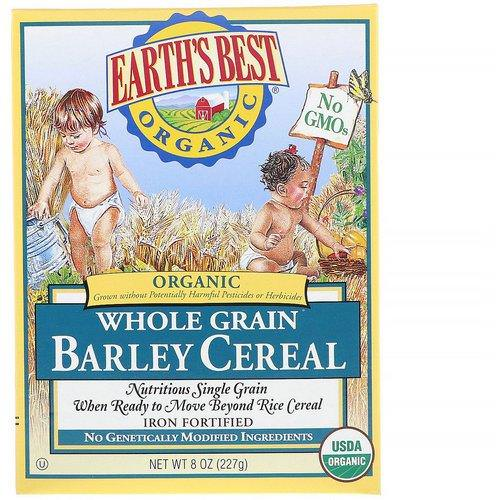 Earth's Best, Organic Whole Grain Barley Cereal, 8 oz (227 g) فوائد