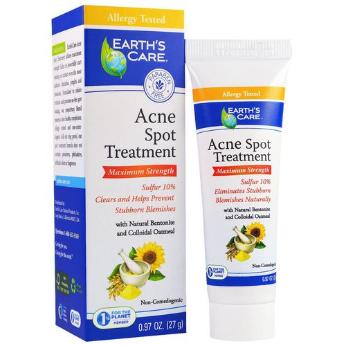 Earth's Care, Acne Spot Treatment, Maximum Strength, 0.97 oz (27 g) فوائد