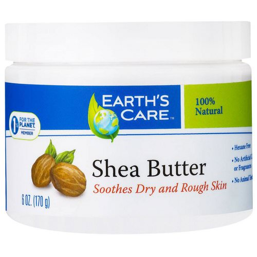 Earth's Care, Shea Butter, 100% Pure, 6 oz (170 g) فوائد
