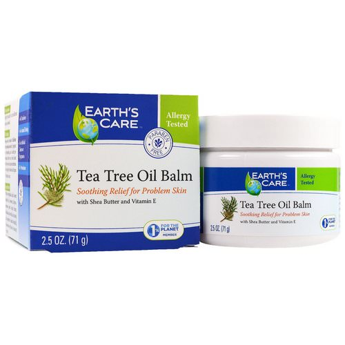 Earth's Care, Tea Tree Oil Balm, 2.5 oz (71 g) فوائد