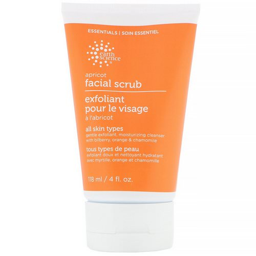 Earth Science, Facial Scrub, Apricot, 4 fl oz (118 ml) فوائد