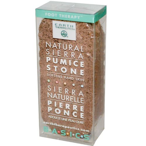 Earth Therapeutics, Basics, Natural Sierra, Pumice Stone, 1 Stone فوائد