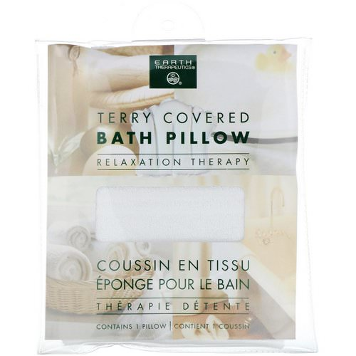 Earth Therapeutics, Terry Covered Bath Pillow, Relaxation Therapy, 1 Pillow فوائد
