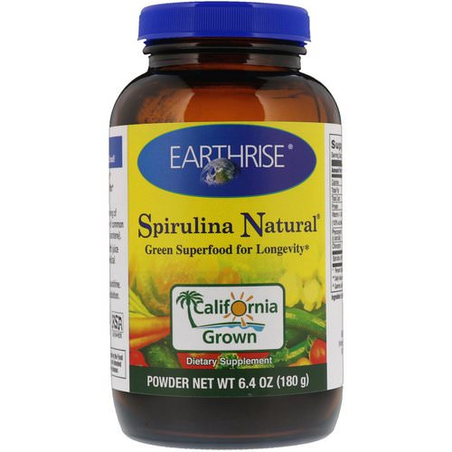 Earthrise, Spirulina Natural Powder, 6.4 oz (180 g) فوائد