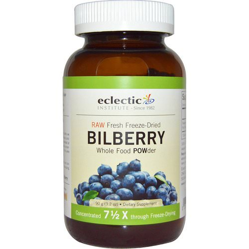 Eclectic Institute, Bilberry, Whole Food POWder, 3.2 oz (90 g) فوائد