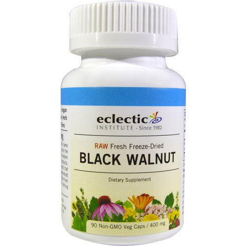 Eclectic Institute, Black Walnut, 400 mg, 90 Veggie Caps فوائد