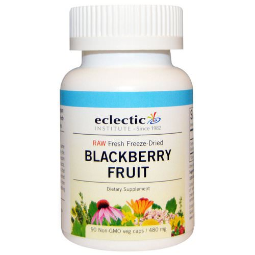 Eclectic Institute, Blackberry Fruit, 480 mg, 90 Non-GMO Veggie Caps فوائد