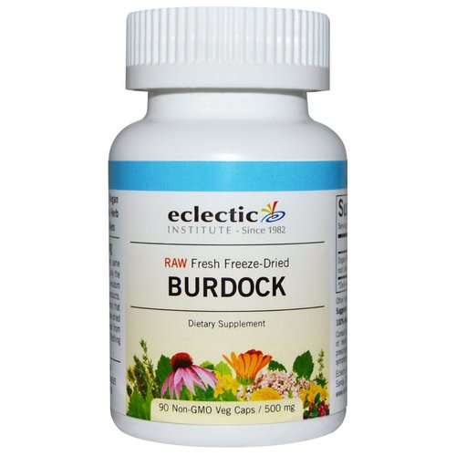 Eclectic Institute, Burdock, Raw, 500 mg, 90 Non-GMO Veggie Caps فوائد