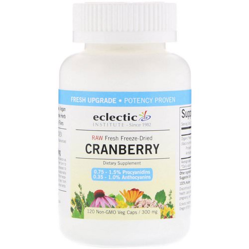 Eclectic Institute, Cranberry, 300 mg, 120 Veg Caps فوائد