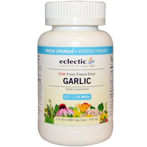 Eclectic Institute, Garlic, 550 mg, 120 Non-GMO Veggie Caps فوائد