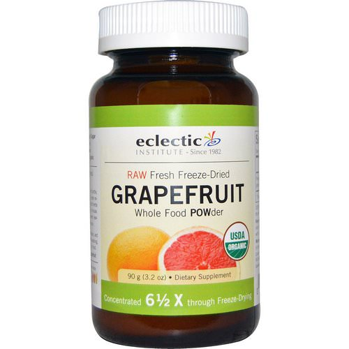 Eclectic Institute, Grapefruit POWder, Raw, 3.2 oz (90 g) فوائد