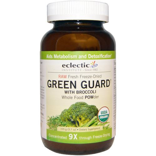 Eclectic Institute, Green Guard with Broccoli, Whole Food POWder, 3.7 oz (105 g) فوائد
