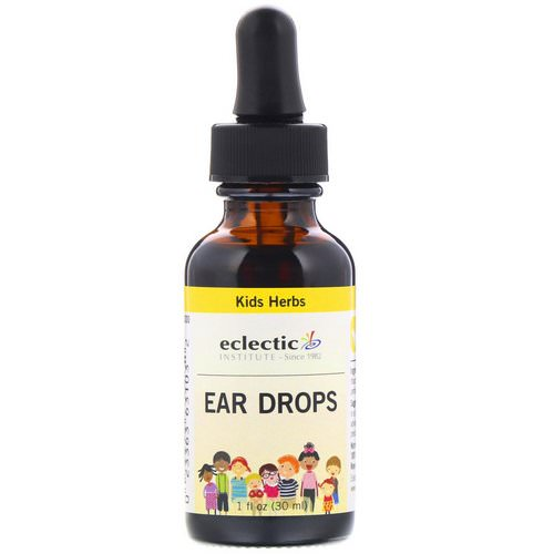 Eclectic Institute, Kids Herbs, Ear Drops, 1 fl oz (30 ml) فوائد