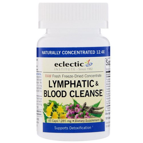 Eclectic Institute, Lymphatic & Blood Cleanse, 285 mg, 45 Veggie Caps فوائد
