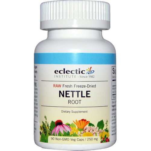 Eclectic Institute, Nettle Root, Raw, 250 mg, 90 Non-GMO Veggie Caps فوائد