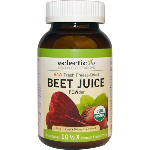 Eclectic Institute, Organic, Beet Juice POWder, 3.2 oz (90 g) فوائد