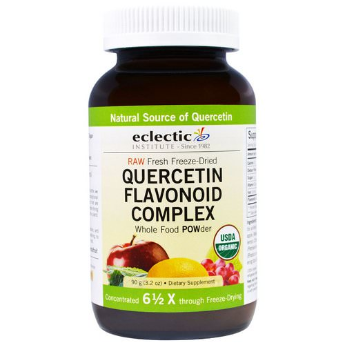 Eclectic Institute, Quercetin Flavonoid Complex, Whole Food POWder, 3.2 oz (90 g) فوائد