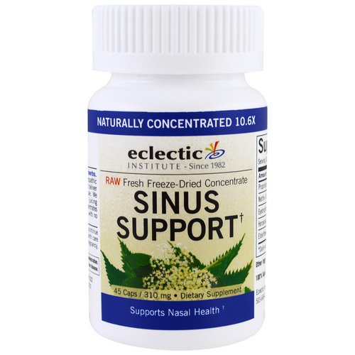 Eclectic Institute, Sinus Support, 310 mg, 45 Caps فوائد
