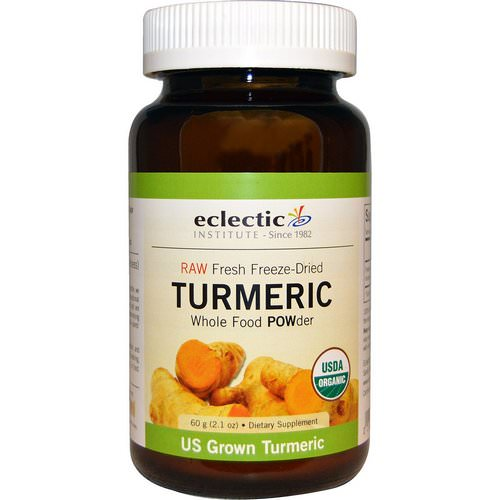 Eclectic Institute, Turmeric, Whole Food POWder, 2.1 oz (60 g) فوائد