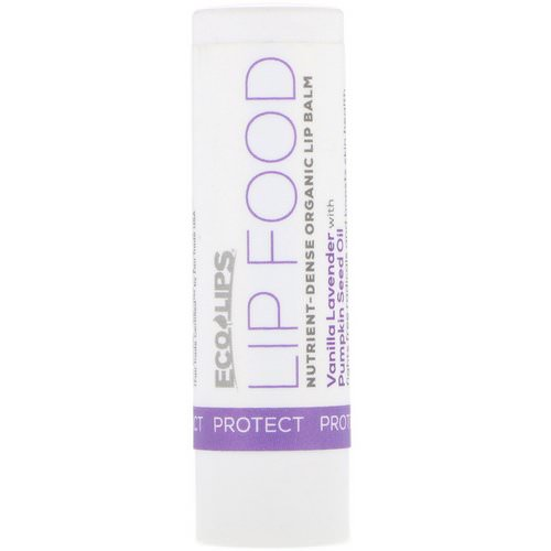 Eco Lips, Lip Food, Protect, Nutrient-Dense Organic Lip Balm, Vanilla Lavender, .15 oz (4.25 g) فوائد