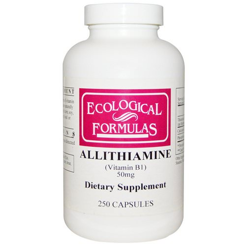 Ecological Formulas, Allithiamine (Vitamin B1), 50 mg, 250 Capsules فوائد