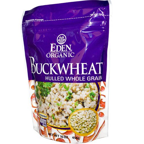 Eden Foods, Organic, Buckwheat, Hulled Whole Grain, 16 oz (454 g) فوائد