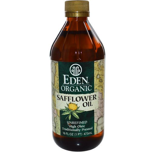 Eden Foods, Organic Safflower Oil, Unrefined, 16 fl oz (473 ml) فوائد