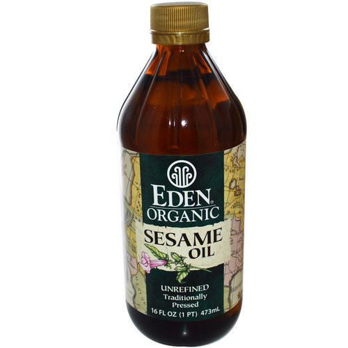 Eden Foods, Organic Sesame Oil, Unrefined, 16 fl oz (473 ml) فوائد